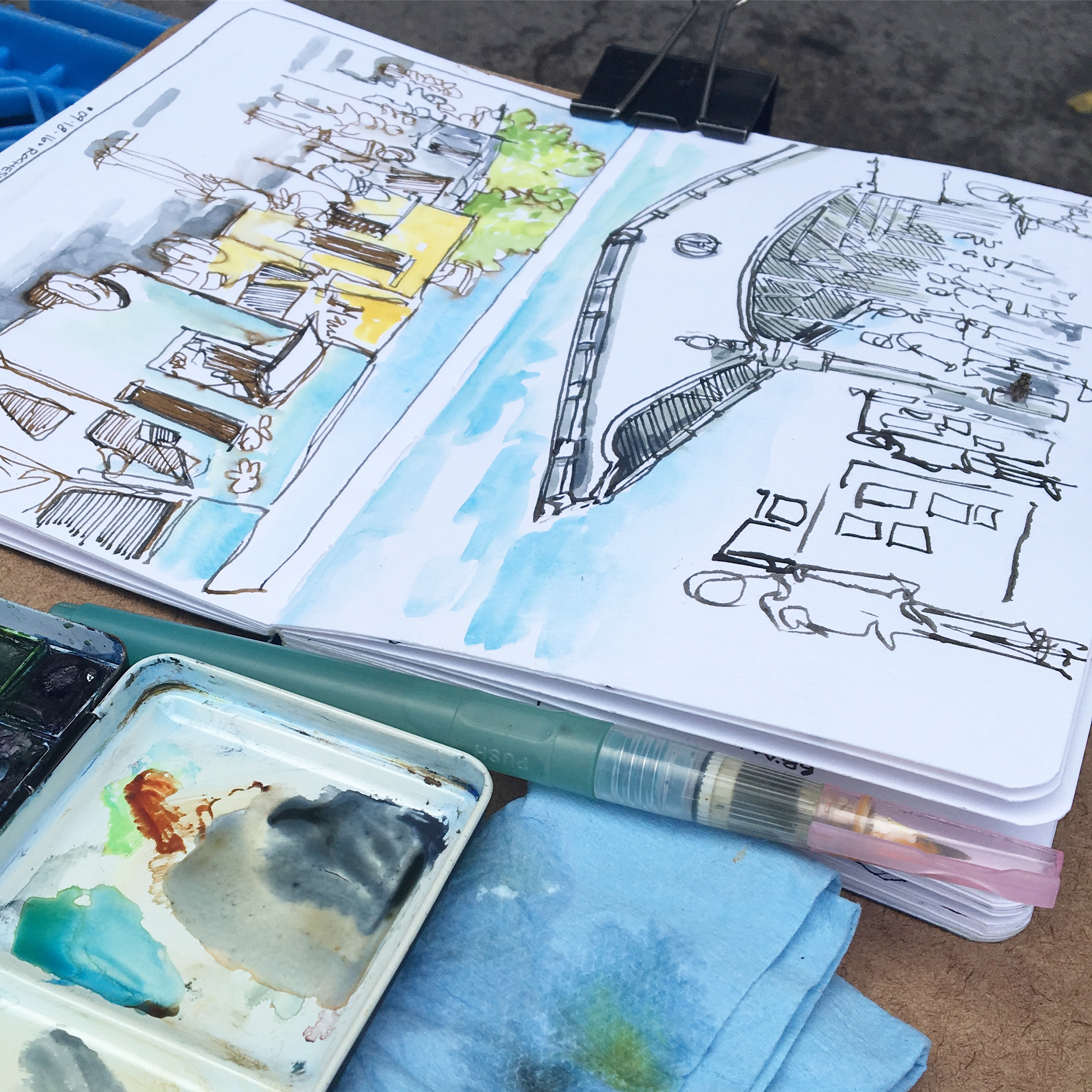 Sketching at the Public Market, Rochester NY.