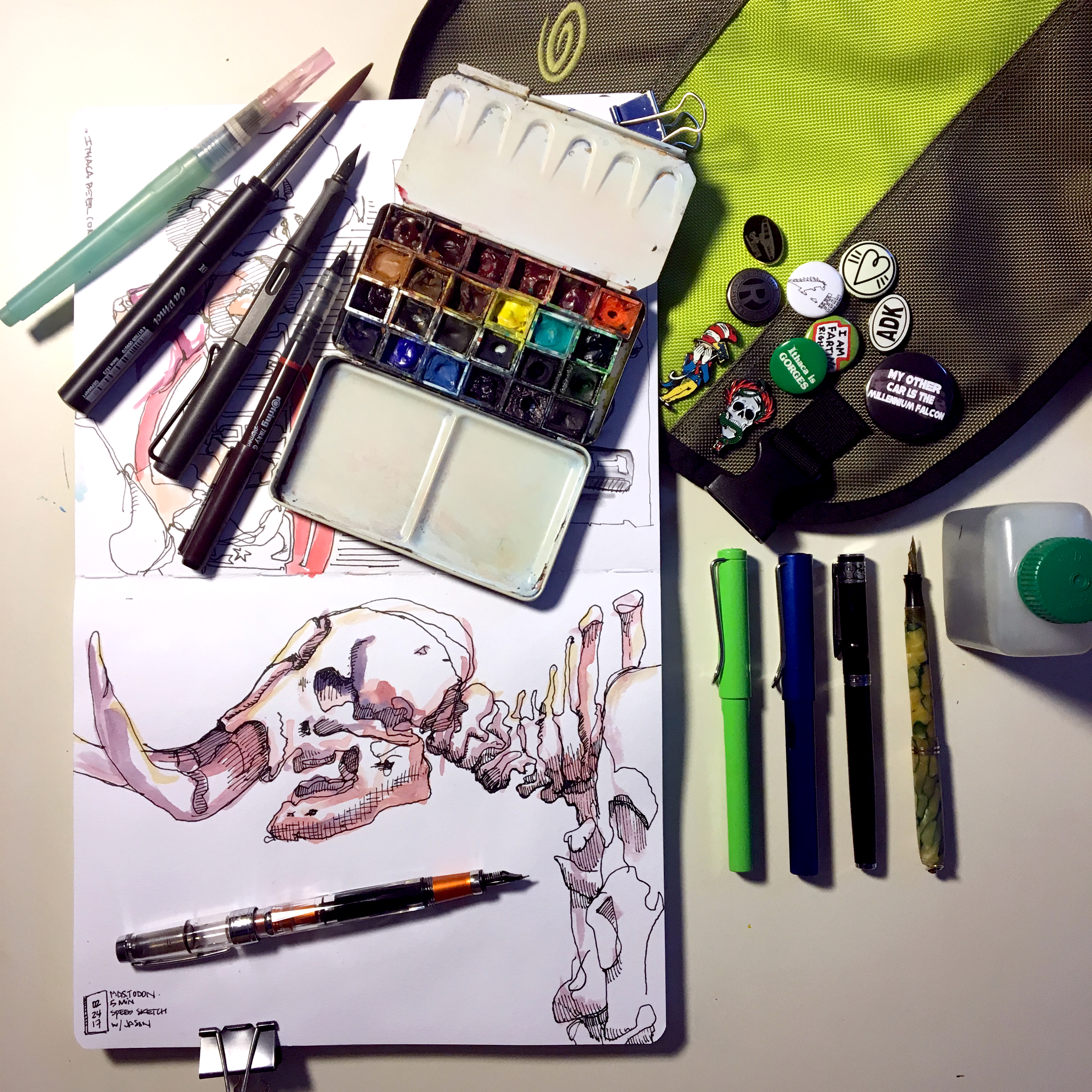 A detail of my ever-expanding drawing kit.
