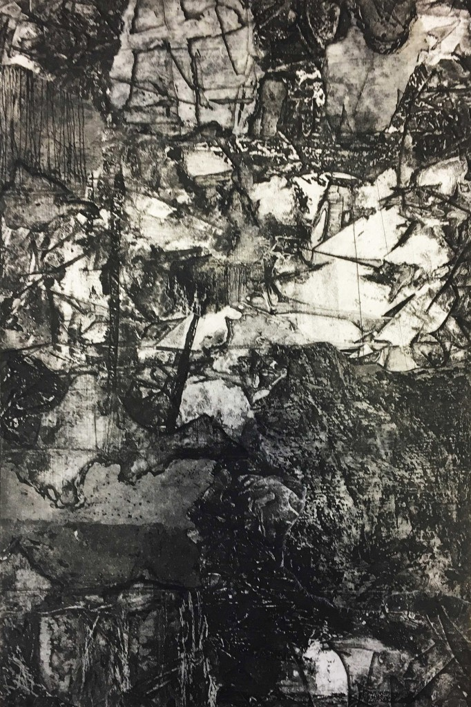 Untitled, Intaglio with Chine Colle, 12x8in, 2018