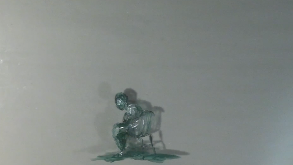 A still from one of Sam's painted animations