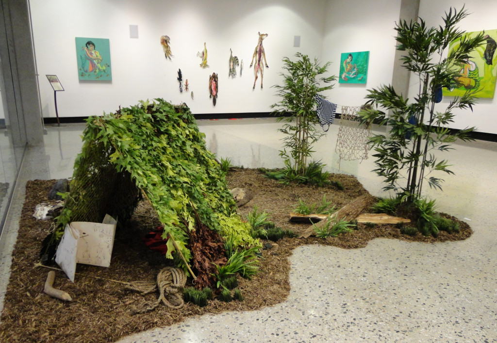 Diorama installation at University of North Carolina, Greensboro's Gatewood Gallery.