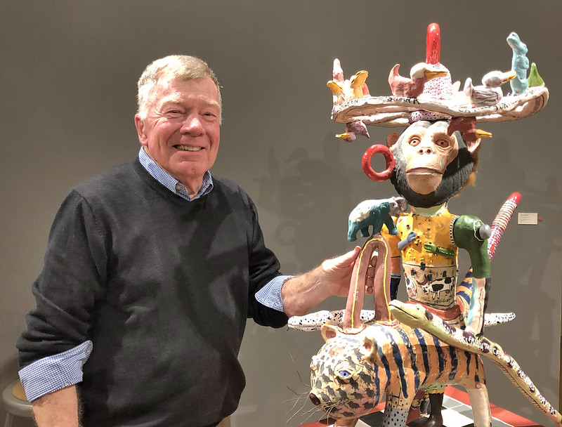 """Bill Stewart on the night of his opening reception for """"Eccentric Energy"""""""