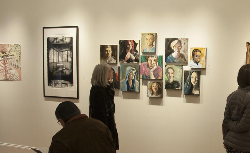 """Perception of Time"" included artwork by Carol Acquilano, Jim Garmhausen, Sue Leopard, Richard Margolis, Nick Marshall, Nancy Wiley, and Beckett Wood"