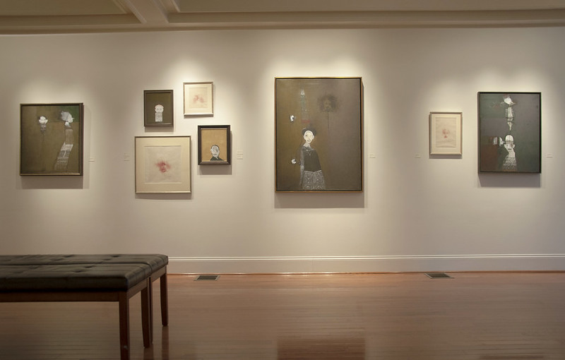 """Installation shot from """"Silent Voices…Silent Rooms"""", Robert's solo exhibition in February of 2019"""