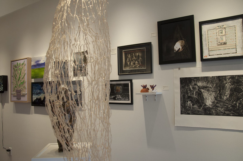 Installation shot from our residency alumni exhibition in April, featuring 43 former artists in residence