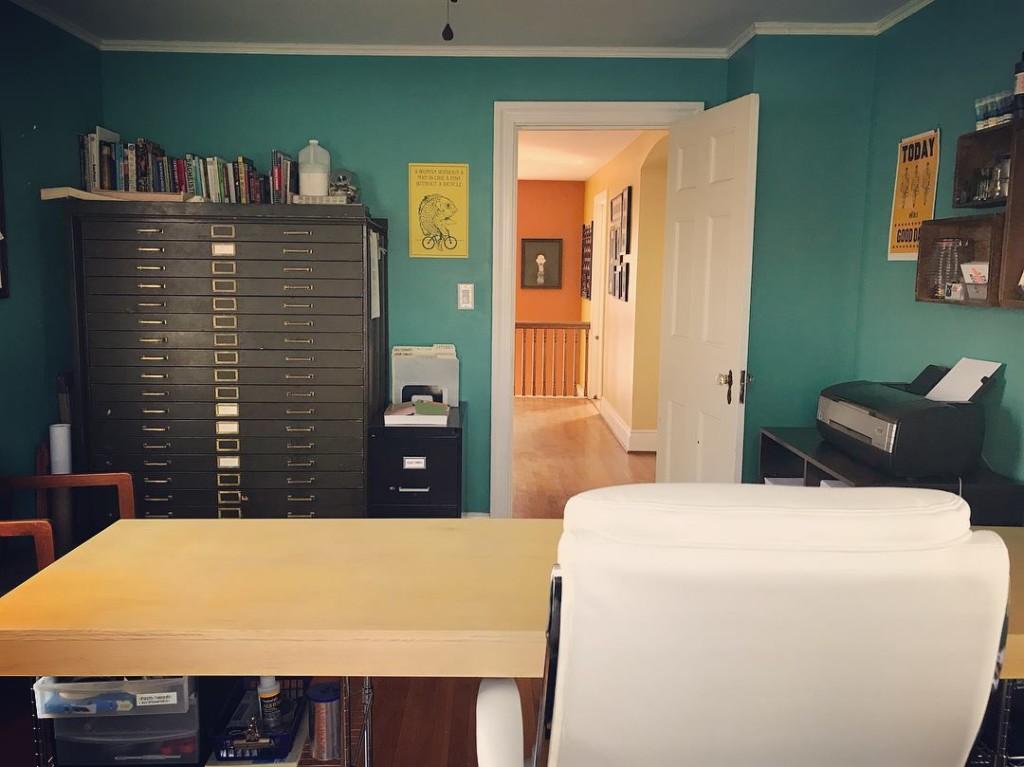 Sarah's studio