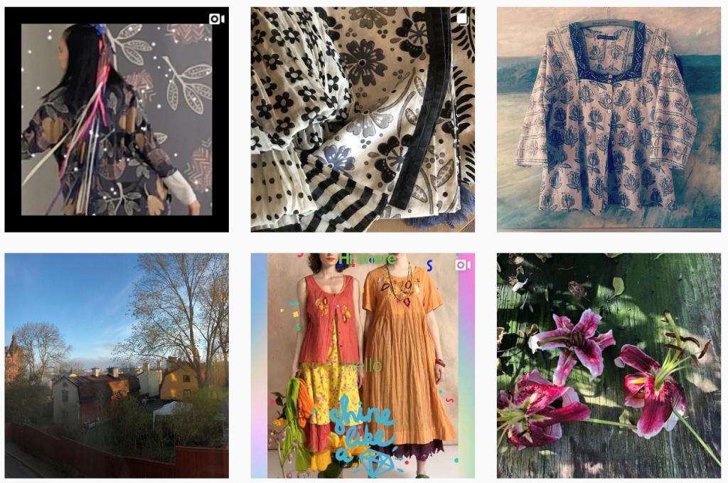 The Instagram feed of Swedish clothing designer Gudrun Sjödén