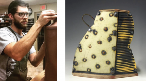Image of The Cup, The Mug 2019 juror Jeremy Randall and a sample of his work