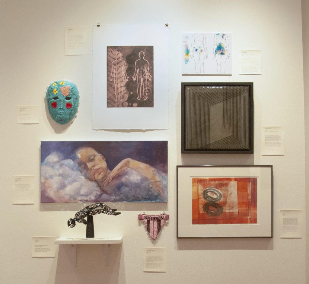 Echo, by Claudia Mejia-Willett (lower right) as shown in the exhibition
