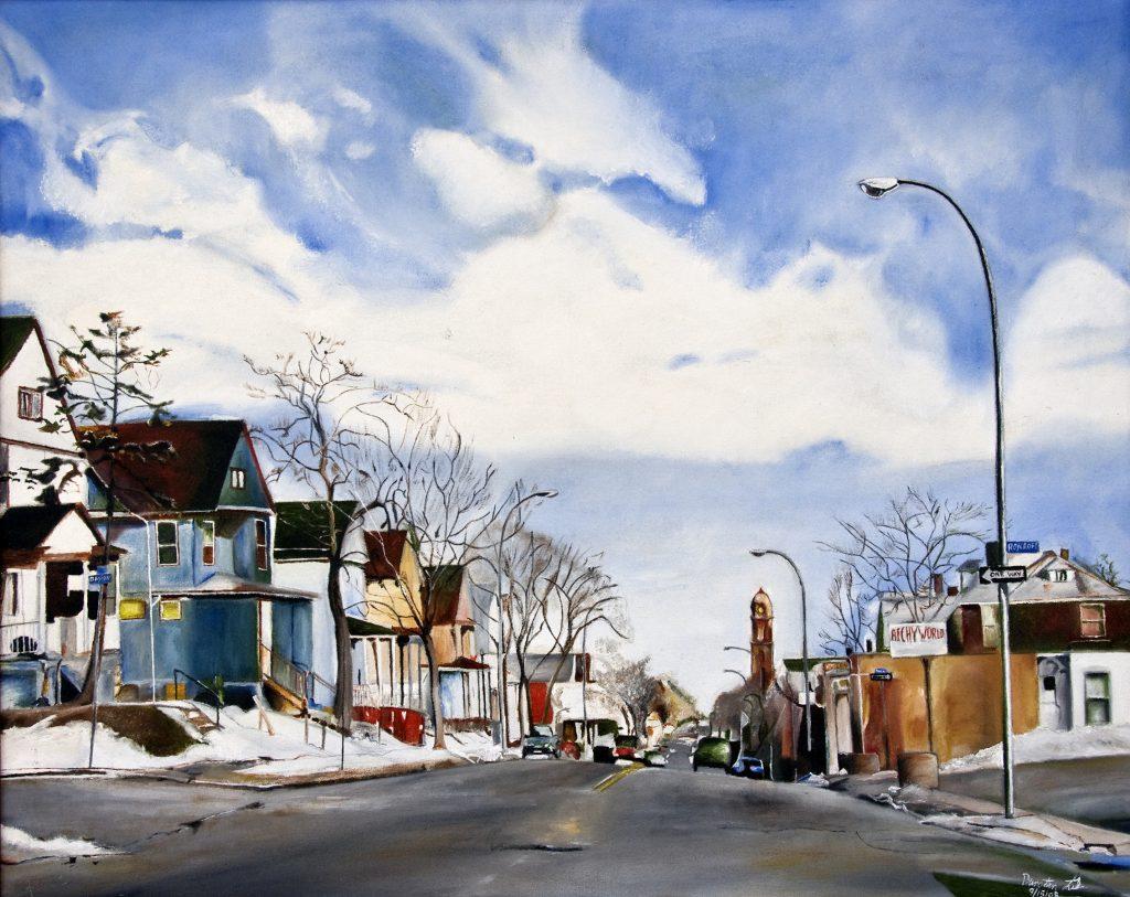 Hudson Avenue by Dunstan Luke, Oil on Canvas 24in x 30in