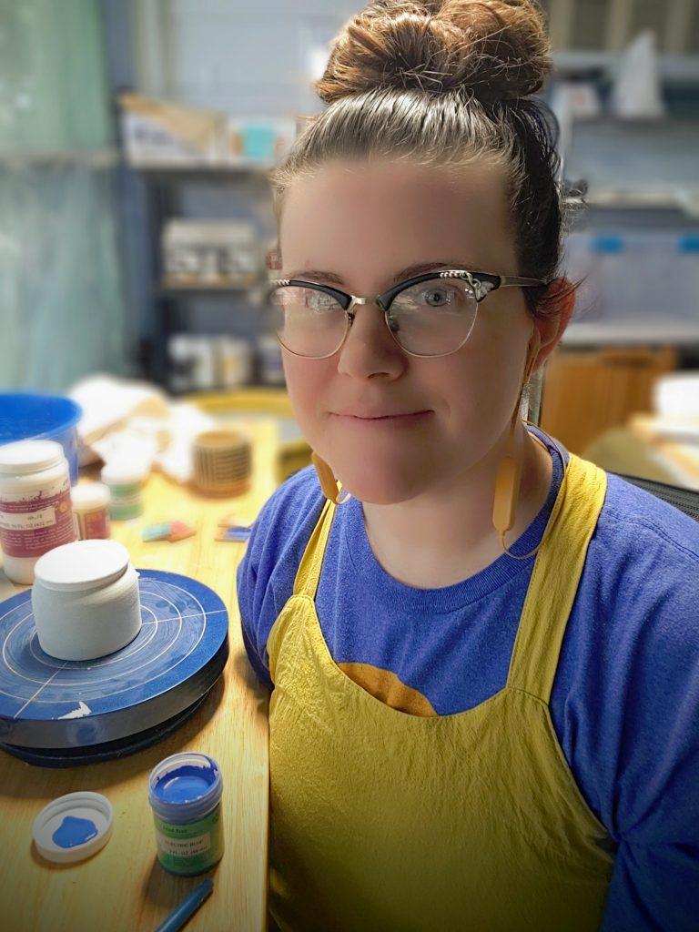 Amber Hamblin in her studio
