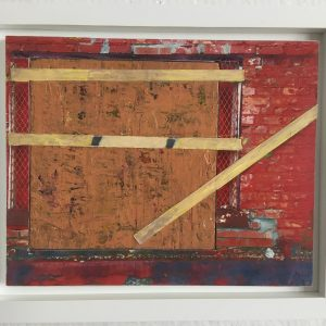 "George Wegman's mixed media artwork ""Whiley Alley"" in the Diner's Club exhibition"