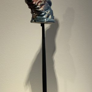 "Kurt Feurerherm's sculpture ""On The Lookout"" in the Diner's Club exhibition"