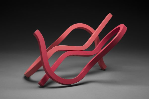 """William Keyser's sculpture """"Foolin' Around With Red"""" in the Diner's Club exhibition"""