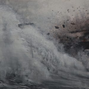 "J.(Jie) Li's painting ""ECHOES OF THE SILENCE XII"" in the Adrift exhibition"