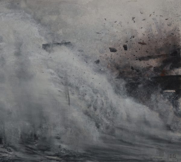 """J.(Jie) Li's painting """"ECHOES OF THE SILENCE XII"""" in the Adrift exhibition"""