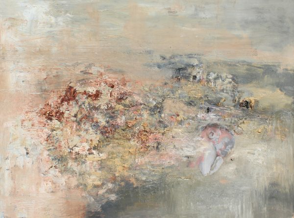 """Geena Massaro's painting """"Untitled (From)"""" in the Adrift exhibition"""