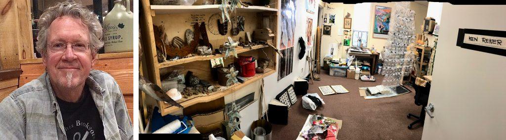 Ken Reker and his studio