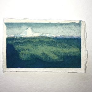 Ken Reker's painting POCKET ICEBERG #5 in the Adrift