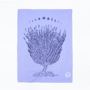 Planetarium lavender moon tea towel