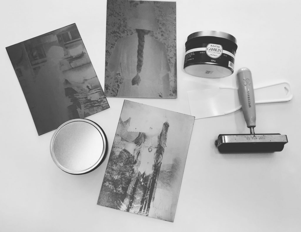 photo of photogravure plates by Michele Vair