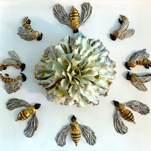 """""""Save the Bees 2"""" by Helen Bishop-Santelli"""
