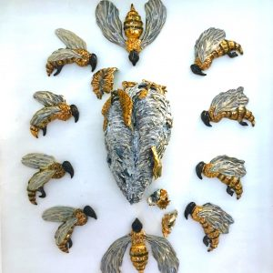 """""""Save the Bees 1"""" by Helen Bishop-Santelli"""