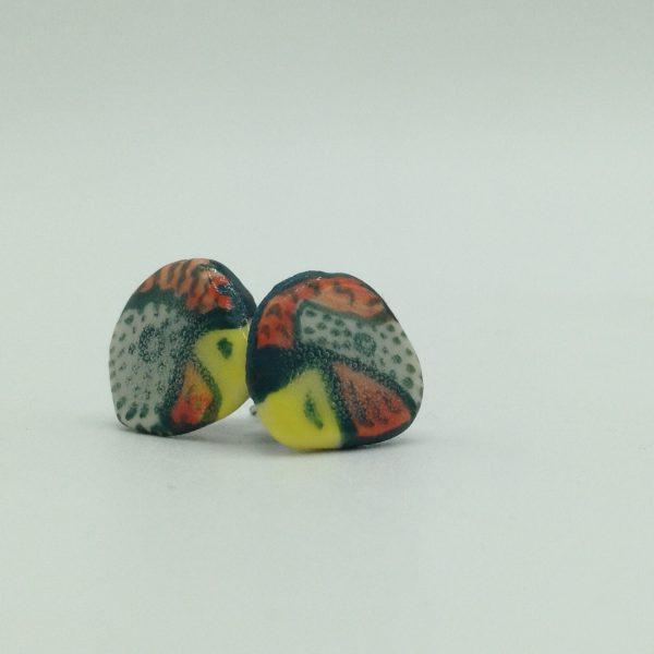 """Hen Head Earring"" (small) by Victoria Savka"