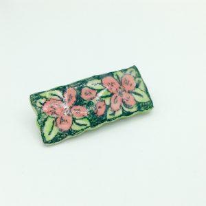 """""""Pink Flower Barrette"""" (medium) by Victoria Savka"""