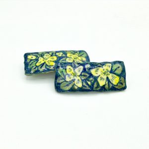 """Yellow Flower Barrette"" (medium) by Victoria Savka"