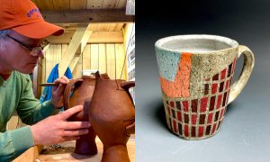 Nate Ditzler and Mike Griffin, ceramic artist included in The Cup, The Mug
