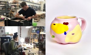 Nate Ditzler and Laura Konecne, ceramic artist included in The Cup, The Mug