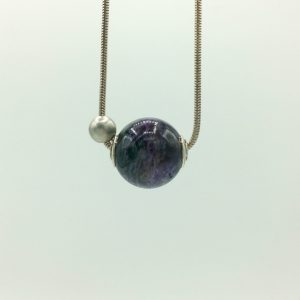 Loraine Cooley - Charoite Bead Necklace